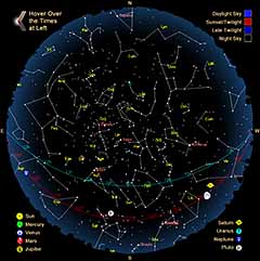 SKY VIEWING SkyMarvelscom - Night sky map northern hemisphere